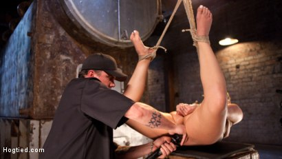 Photo number 9 from AJ Applegate Submits To Grueling Bondage and Torment!!! shot for Hogtied on Kink.com. Featuring AJ Applegate and The Pope in hardcore BDSM & Fetish porn.