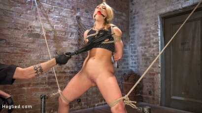Photo number 13 from AJ Applegate Submits To Grueling Bondage and Torment!!! shot for Hogtied on Kink.com. Featuring AJ Applegate and The Pope in hardcore BDSM & Fetish porn.