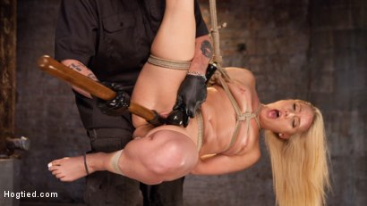 Photo number 6 from AJ Applegate Submits To Grueling Bondage and Torment!!! shot for Hogtied on Kink.com. Featuring AJ Applegate and The Pope in hardcore BDSM & Fetish porn.