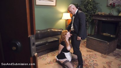 Photo number 4 from The Lady and the Maid shot for Sex And Submission on Kink.com. Featuring Roxanne Rae, Derrick Pierce and Lauren Phillips in hardcore BDSM & Fetish porn.
