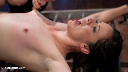 Photo number 19 from Girlfriends For The Day: Pain Slut Delightfully Electro Tormented shot for Electro Sluts on Kink.com. Featuring Pink and Aiden Starr in hardcore BDSM & Fetish porn.