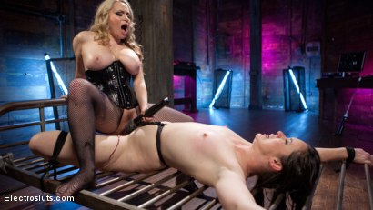 Photo number 20 from Girlfriends For The Day: Pain Slut Delightfully Electro Tormented shot for Electro Sluts on Kink.com. Featuring Pink and Aiden Starr in hardcore BDSM & Fetish porn.