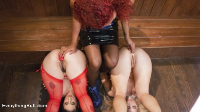 Photo number 14 from Arabelle Raphael's Anal Traning shot for Everything Butt on Kink.com. Featuring Arabelle Raphael, Carissa Montgomery and Daisy Ducati in hardcore BDSM & Fetish porn.