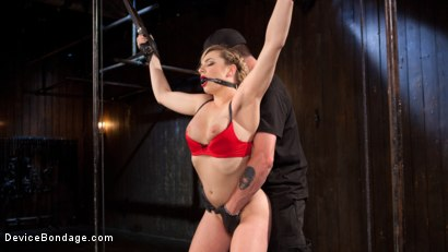 Photo number 1 from Sexy Blonde Whore is Brutalized in Grueling Bondage shot for Device Bondage on Kink.com. Featuring Dahlia Sky and The Pope in hardcore BDSM & Fetish porn.