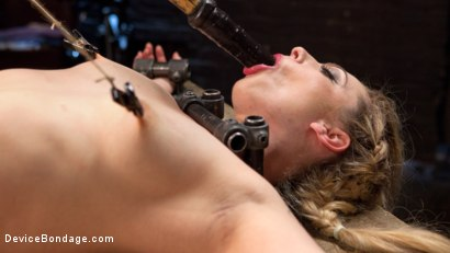 Photo number 11 from Sexy Blonde Whore is Brutalized in Grueling Bondage shot for Device Bondage on Kink.com. Featuring Dahlia Sky and The Pope in hardcore BDSM & Fetish porn.