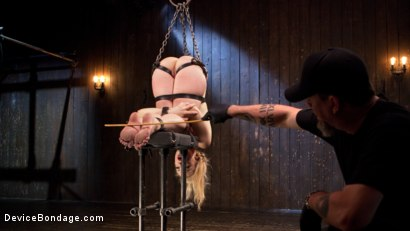 Photo number 14 from Sexy Blonde Whore is Brutalized in Grueling Bondage shot for Device Bondage on Kink.com. Featuring Dahlia Sky and The Pope in hardcore BDSM & Fetish porn.