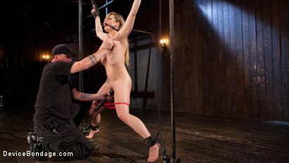 Photo number 3 from Sexy Blonde Whore is Brutalized in Grueling Bondage shot for Device Bondage on Kink.com. Featuring Dahlia Sky and The Pope in hardcore BDSM & Fetish porn.