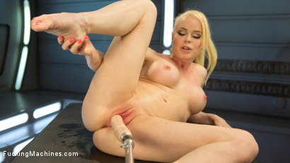 Photo number 5 from Sexy Blonde Babe Gets Machine Fucked for the First Time!! shot for Fucking Machines on Kink.com. Featuring Nikki Delano in hardcore BDSM & Fetish porn.