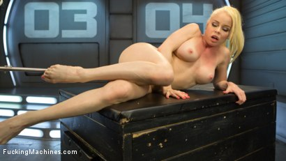 Photo number 7 from Sexy Blonde Babe Gets Machine Fucked for the First Time!! shot for Fucking Machines on Kink.com. Featuring Nikki Delano in hardcore BDSM & Fetish porn.