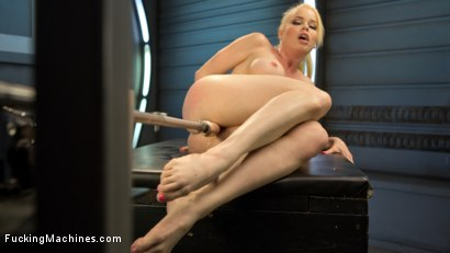 Photo number 8 from Sexy Blonde Babe Gets Machine Fucked for the First Time!! shot for Fucking Machines on Kink.com. Featuring Nikki Delano in hardcore BDSM & Fetish porn.