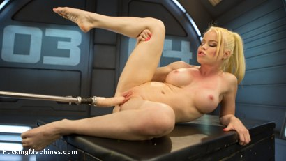 Photo number 9 from Sexy Blonde Babe Gets Machine Fucked for the First Time!! shot for Fucking Machines on Kink.com. Featuring Nikki Delano in hardcore BDSM & Fetish porn.