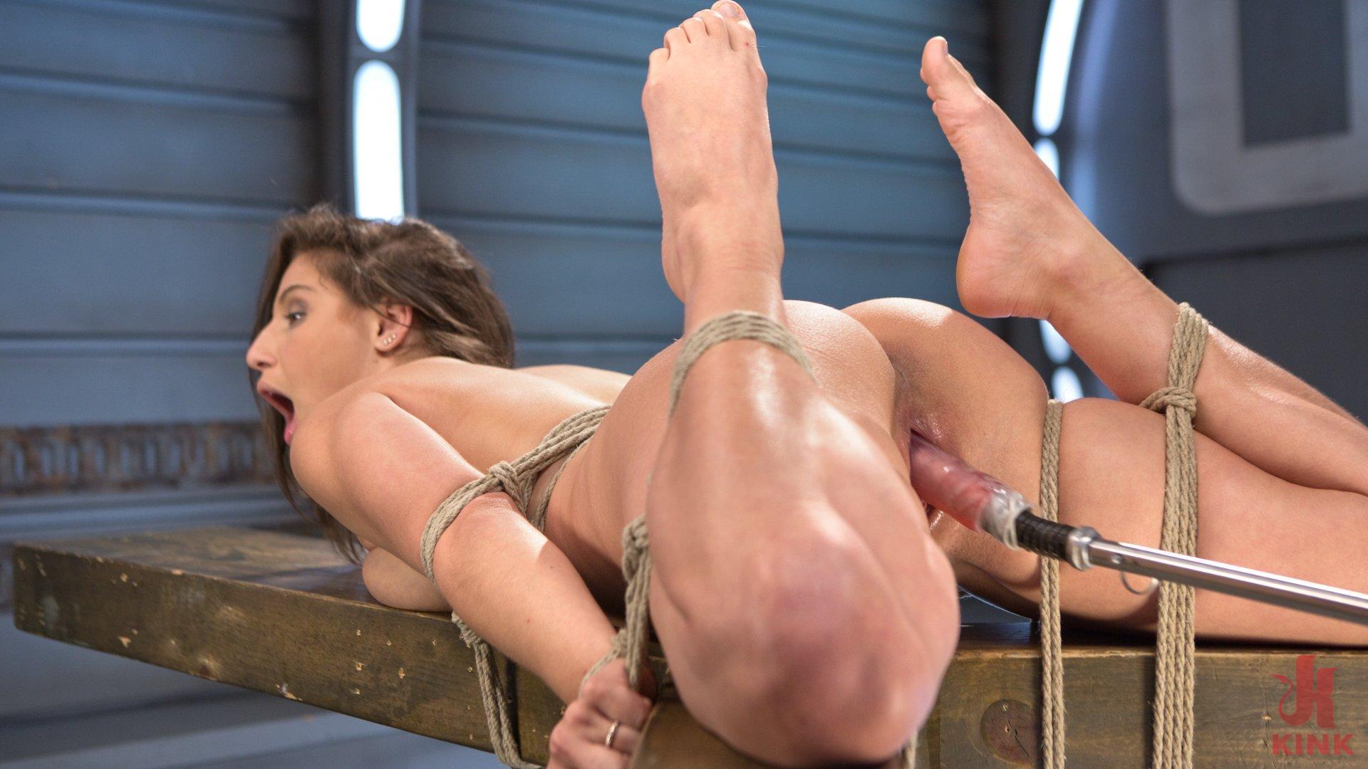 Photo number 5 from Bondage Slut Gets Fucked Senseless in Rope Bondage shot for Fucking Machines on Kink.com. Featuring Abella Danger in hardcore BDSM & Fetish porn.
