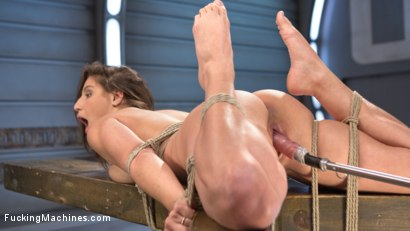 Photo number 5 from Bondage Slut Gets Fucked Senseless in Rope Bondage shot for Fucking Machines on Kink.com. Featuring Abella Danger in hardcore BDSM & Fetish porn.
