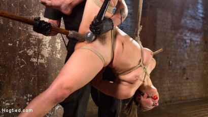 Photo number 13 from Masochistic Pain Slut in Bondage, Tormented, and Used for Her Holes shot for Hogtied on Kink.com. Featuring Abella Danger and The Pope in hardcore BDSM & Fetish porn.