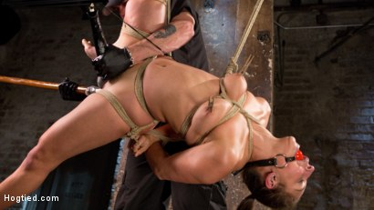 Photo number 5 from Masochistic Pain Slut in Bondage, Tormented, and Used for Her Holes shot for Hogtied on Kink.com. Featuring Abella Danger and The Pope in hardcore BDSM & Fetish porn.