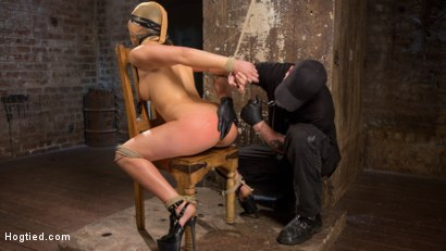 Photo number 9 from Masochistic Pain Slut in Bondage, Tormented, and Used for Her Holes shot for Hogtied on Kink.com. Featuring Abella Danger and The Pope in hardcore BDSM & Fetish porn.