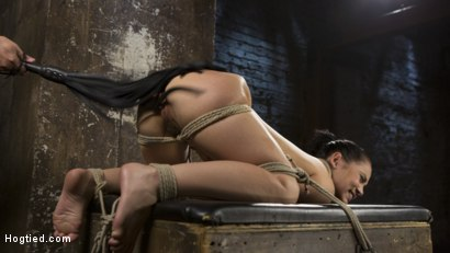 Photo number 14 from Feisty Latina is Captured in Grueling Bondage, Tormented, and Ass Fucked shot for Hogtied on Kink.com. Featuring Kristina Rose and The Pope in hardcore BDSM & Fetish porn.