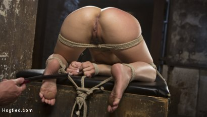 Photo number 6 from Feisty Latina is Captured in Grueling Bondage, Tormented, and Ass Fucked shot for Hogtied on Kink.com. Featuring Kristina Rose and The Pope in hardcore BDSM & Fetish porn.