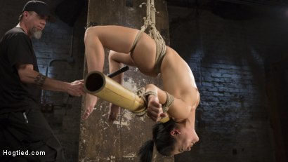 Photo number 9 from Feisty Latina is Captured in Grueling Bondage, Tormented, and Ass Fucked shot for Hogtied on Kink.com. Featuring Kristina Rose and The Pope in hardcore BDSM & Fetish porn.