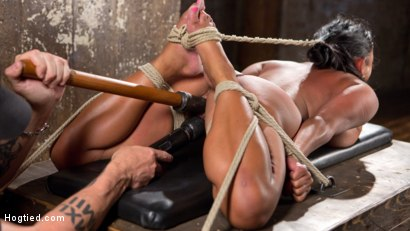 Photo number 1 from Big Tits Bound, Tormented Body, and Pussy and Face Fucked shot for Hogtied on Kink.com. Featuring Maxine X in hardcore BDSM & Fetish porn.