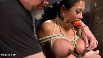 Photo number 14 from Big Tits Bound, Tormented Body, and Pussy and Face Fucked shot for Hogtied on Kink.com. Featuring Maxine X in hardcore BDSM & Fetish porn.
