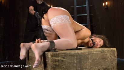 Photo number 1 from Young Pain Slut Devastated in Grueling Bondage, Tormented, and Cumming shot for Device Bondage on Kink.com. Featuring Abella Danger and The Pope in hardcore BDSM & Fetish porn.