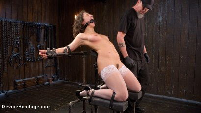 Photo number 6 from Young Pain Slut Devastated in Grueling Bondage, Tormented, and Cumming shot for Device Bondage on Kink.com. Featuring Abella Danger and The Pope in hardcore BDSM & Fetish porn.