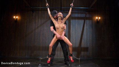 Photo number 2 from A Toy Named Giggles shot for Device Bondage on Kink.com. Featuring Janice Griffith and The Pope in hardcore BDSM & Fetish porn.