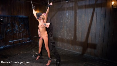 Photo number 3 from A Toy Named Giggles shot for Device Bondage on Kink.com. Featuring Janice Griffith and The Pope in hardcore BDSM & Fetish porn.