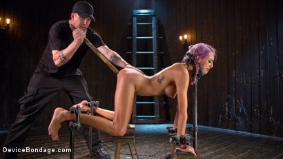 Photo number 6 from A Toy Named Giggles shot for Device Bondage on Kink.com. Featuring Janice Griffith and The Pope in hardcore BDSM & Fetish porn.