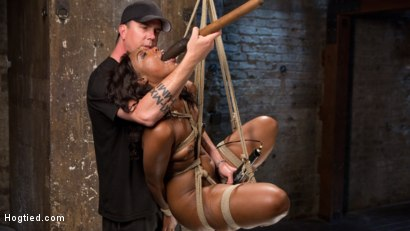 Photo number 12 from Bondage Princess Captured and Tormented!! shot for hogtied on Kink.com. Featuring Chanell Heart and The Pope in hardcore BDSM & Fetish porn.
