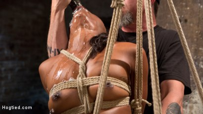 Photo number 13 from Ebony Bondage Princess Captured and Tormented!! shot for Hogtied on Kink.com. Featuring Chanell Heart and The Pope in hardcore BDSM & Fetish porn.