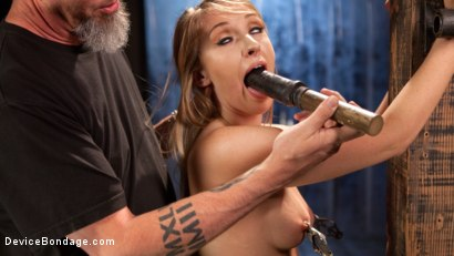 Photo number 3 from Punishing the New Slut shot for Device Bondage on Kink.com. Featuring Harley Jade and The Pope in hardcore BDSM & Fetish porn.