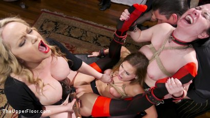 Photo number 8 from 100 Orgasm Slave Girl Orgy shot for The Upper Floor on Kink.com. Featuring Aiden Starr, Veruca James, Mickey Mod, Marco Banderas, Bobbi Dylan, Nora Riley and Sydney Cole in hardcore BDSM & Fetish porn.