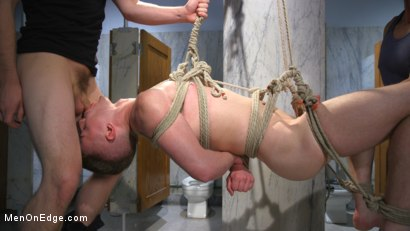 Photo number 5 from Hot Stud Trapped at the Glory Hole shot for Men On Edge on Kink.com. Featuring Kyler Ash in hardcore BDSM & Fetish porn.