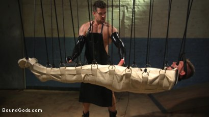 Photo number 12 from Perverted Butcher torments and abuses his handsome captive shot for Bound Gods on Kink.com. Featuring Kyler Ash and Trenton Ducati in hardcore BDSM & Fetish porn.