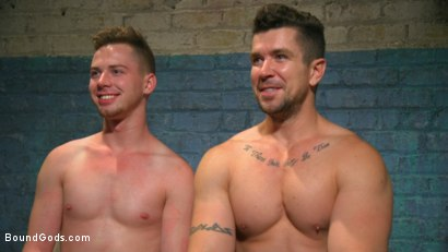 Photo number 15 from Perverted Butcher torments and abuses his handsome captive shot for Bound Gods on Kink.com. Featuring Kyler Ash and Trenton Ducati in hardcore BDSM & Fetish porn.