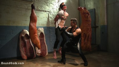 Photo number 9 from Perverted Butcher torments and abuses his handsome captive shot for Bound Gods on Kink.com. Featuring Kyler Ash and Trenton Ducati in hardcore BDSM & Fetish porn.