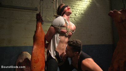Photo number 2 from Perverted Butcher torments and abuses his handsome captive shot for Bound Gods on Kink.com. Featuring Kyler Ash and Trenton Ducati in hardcore BDSM & Fetish porn.