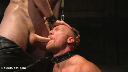 Photo number 10 from One take. No stopping. No Edit. Continuous humiliation. Relentless torment. shot for Bound Gods on Kink.com. Featuring Sebastian Keys and Chris Burke in hardcore BDSM & Fetish porn.