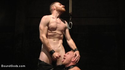 Photo number 12 from One take. No stopping. No Edit. Continuous humiliation. Relentless torment. shot for Bound Gods on Kink.com. Featuring Sebastian Keys and Chris Burke in hardcore BDSM & Fetish porn.