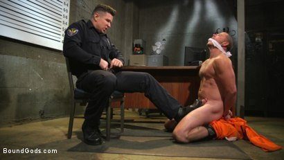Photo number 2 from Prison Punk Scared Straight by Perverted Officer Ducati shot for Bound Gods on Kink.com. Featuring Max Cameron and Trenton Ducati in hardcore BDSM & Fetish porn.