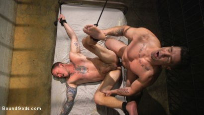 Photo number 9 from Prison Punk Scared Straight by Perverted Officer Ducati shot for Bound Gods on Kink.com. Featuring Max Cameron and Trenton Ducati in hardcore BDSM & Fetish porn.