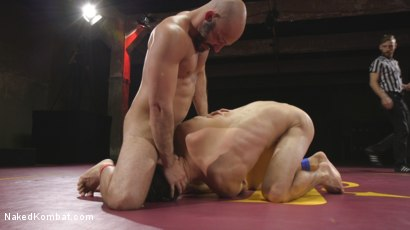 Photo number 5 from Hot Newcomer Max Woods takes on undefeated Dylan Strokes shot for Naked Kombat on Kink.com. Featuring Max Woods and Dylan Strokes in hardcore BDSM & Fetish porn.