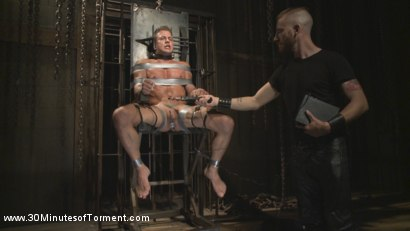 Photo number 11 from Alexander Gustavo Withstands Insane Levels of Torment shot for 30 Minutes of Torment on Kink.com. Featuring Alexander Gustavo in hardcore BDSM & Fetish porn.