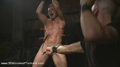 Photo number 9 from Alexander Gustavo Withstands Insane Levels of Torment shot for 30 Minutes of Torment on Kink.com. Featuring Alexander Gustavo in hardcore BDSM & Fetish porn.