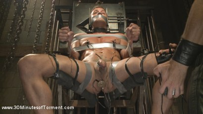 Photo number 5 from Alexander Gustavo Withstands Insane Levels of Torment shot for 30 Minutes of Torment on Kink.com. Featuring Alexander Gustavo in hardcore BDSM & Fetish porn.