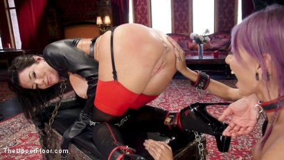 Photo number 13 from The Nymphomaniac's Apprentice shot for The Upper Floor on Kink.com. Featuring Veronica Avluv, Mickey Mod and Janice Griffith in hardcore BDSM & Fetish porn.