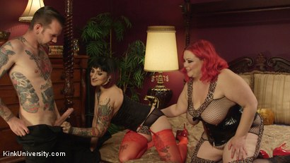 Photo number 1 from Big & Beautiful Sex Techniques shot for Kink University on Kink.com. Featuring April Flores, Will Havoc and Camille Black in hardcore BDSM & Fetish porn.