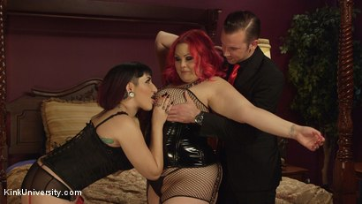 Photo number 2 from Big & Beautiful Sex Techniques shot for Kink University on Kink.com. Featuring April Flores, Will Havoc and Camille Black in hardcore BDSM & Fetish porn.